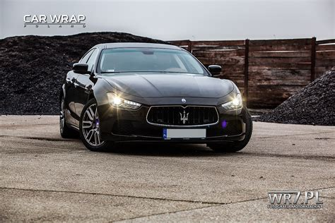 maserati metallic maserati ghibli black gloss metallic zmiana koloru car