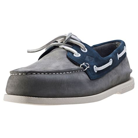 sperry washable boat shoes sperry a o washable mens boat shoes in grey navy