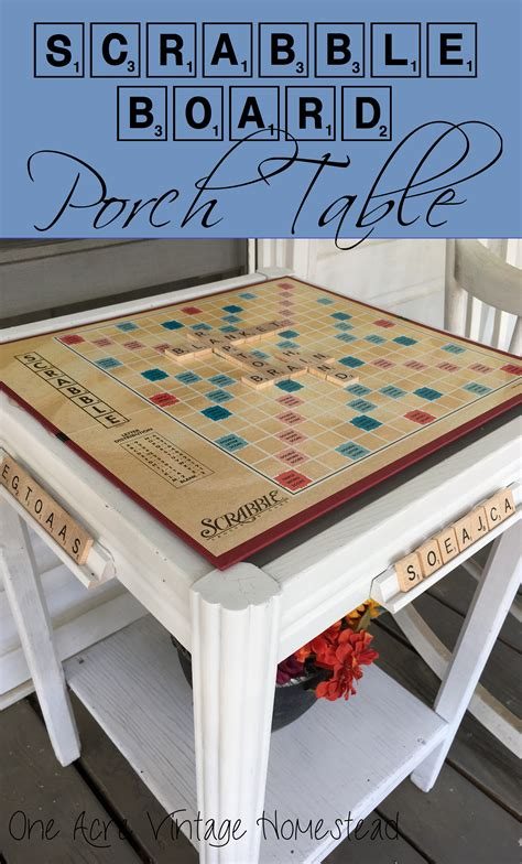 scrabble table scrabble board table an upcycle craft project
