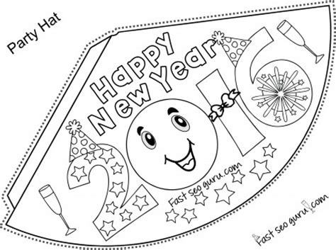 new years hat template printable happy new year hats coloring for