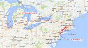 Map From New York To Boston by New York Boston Amp Chicago Theinternettraveller Com