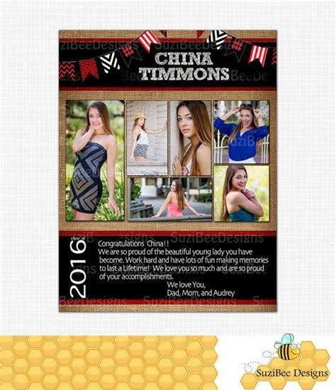 sle of yearbook yearbook ad template burlap high school senior by