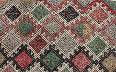 embroidered rugs embroidered kilim flat weave rug for sale at 1stdibs