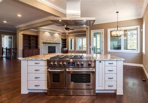 center island kitchen design  castle rock jm