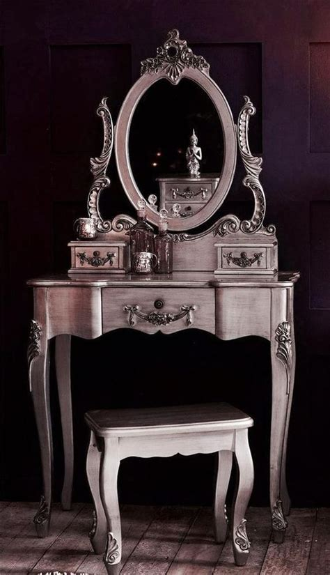 Vintage Bedroom Vanity With Mirror by Antique Silver Vintage Shabby Chic Dressing Table