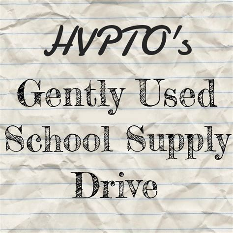 Gently Used School Supplies Drive ? Hermosa View & Valley