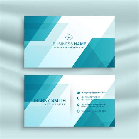 Visitenkarten Hintergrund Vorlagen Kostenlos by Modern Blau Und Wei 223 Visitenkarte Design Vorlage