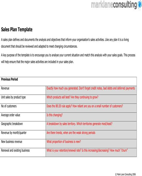 download sales plan template for free page 3 formtemplate