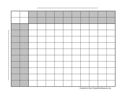 printable bowl block pool template football squares bowl squares play football