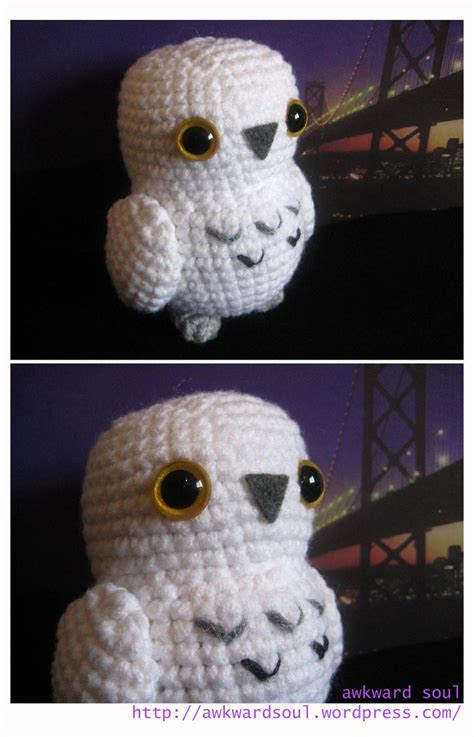 snowy owl amigurumi by awkwardsoul on deviantart