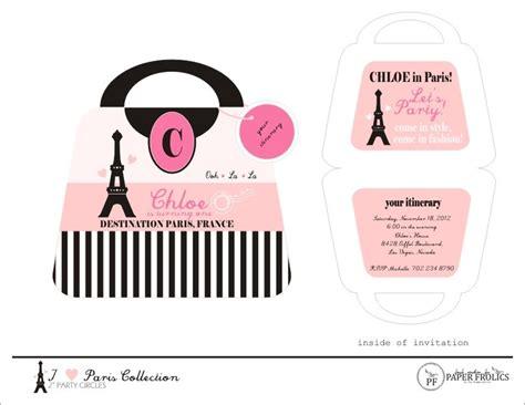 printable purse invitation template parisian party printable purse invitation 10 00 via