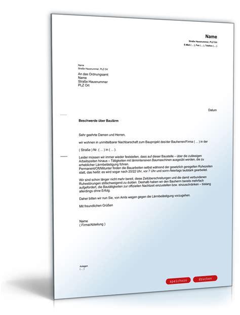 Musterbrief Englisch Beschwerde Beschwerde 252 Ber Baul 228 Rm Beim Ordnungsamt