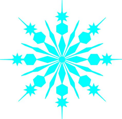snowflake outline clip at clker vector clip
