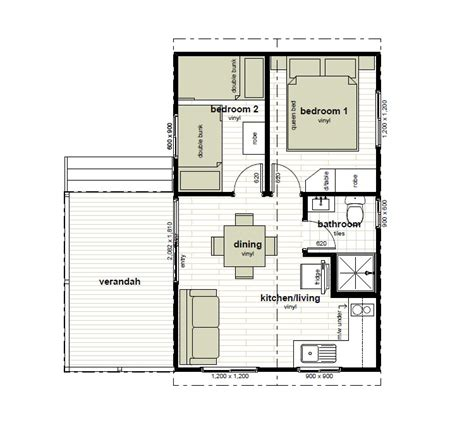 2 bedroom cabin plans with loft