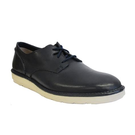 clarks mens shoe fayeman lace navy leather