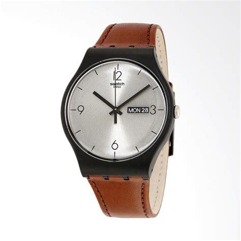 Jam Tangan Swatch Coklat jual swatch suob721 lonely desert jam tangan pria coklat