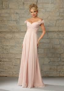 luxe chiffon morilee bridesmaid dress with ruffled off the