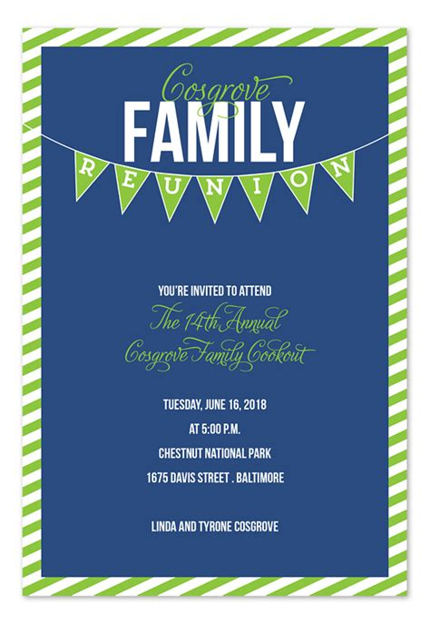 family banner party invitations by invitation