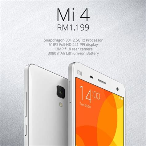Xiaomi Mi4 316 3g xiaomi mi4 3g is coming to malaysia