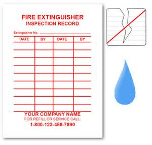 extinguisher inspection tag template equipment tags labels