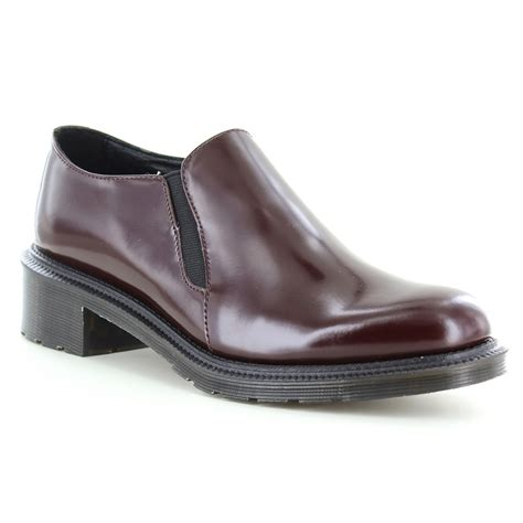 dr martens rosyna womens leather shoes oxblood