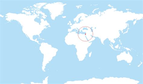 map world locations where is israel located on the world map
