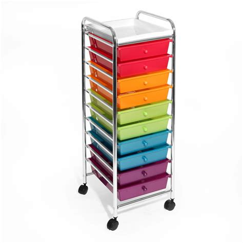 Seville 10 Drawer Cart by Seville Classics 10 Drawer Steel Organizer Cart In