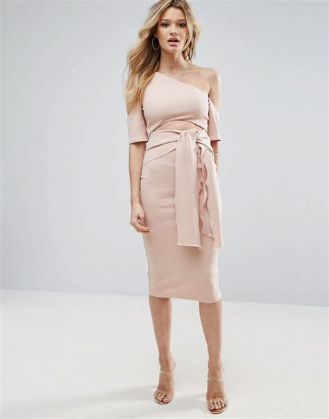 ribbed cut out tie front midi dress ootd