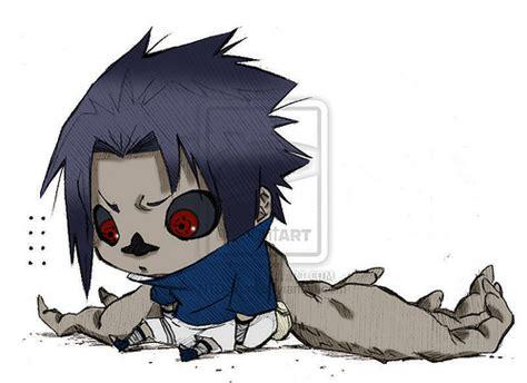 sasuke curse mark chibi the one is omg cute double aww