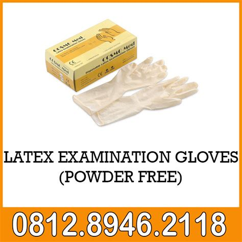 Sarung Tangan Apotik examination gloves powder free