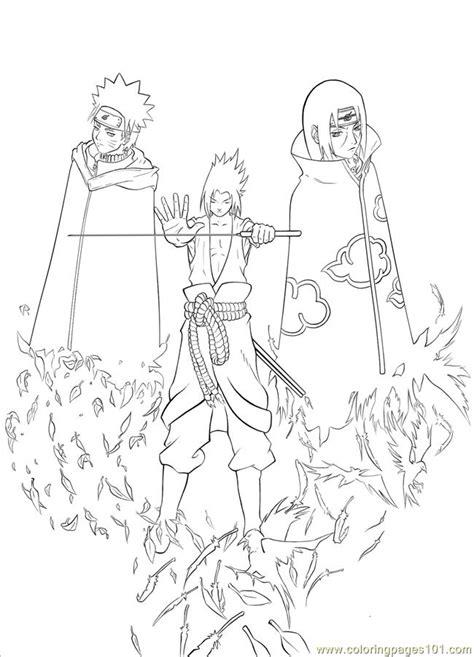 free sasuke para draw coloring pages