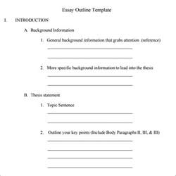 template essay outline outline template 11 free documents in pdf
