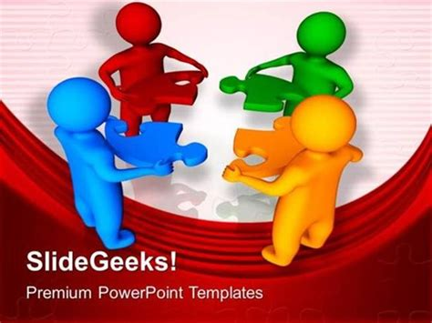 powerpoint templates free download teamwork teamwork 3d men with jigsaw puzzle pieces business ppt