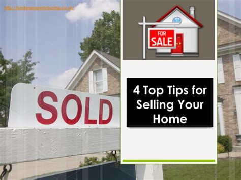 ppt 4 top tips for selling your home powerpoint