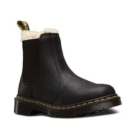 dr martens leonore chelsea boot black slip on leather