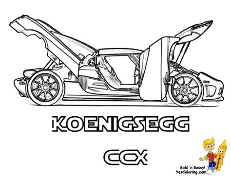 glorious car colouring pages