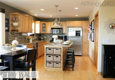 Grey Maple Kitchen Cabinets Gray Kitchen Sherwin Williams Anonymous Paint Color Diy Tile Backsplash Maple Kitchen