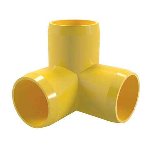 formufit 1 in furniture grade pvc 3 way in yellow