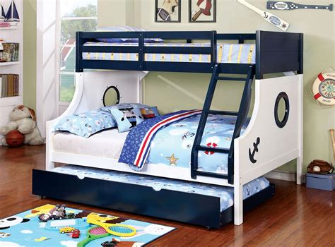 nautical twin full bunk bed