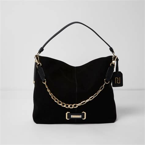 Slouch Bag by Black Chain Front Underarm Slouch Bag Shoulder Bags