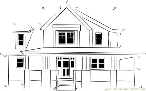 printable dot to dot house front house view dot to dot printable worksheet connect