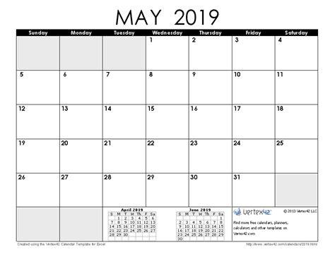 Calendar 2019 May 2019 Calendar Templates And Images