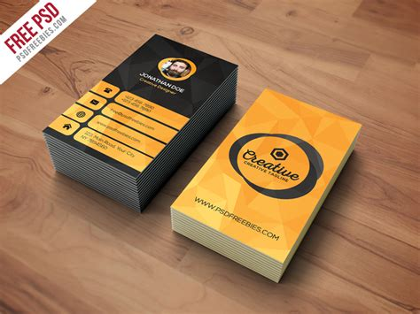 card template free psd agency business card template free psd psdfreebies