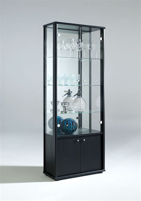 Living Room Neptune 1 Or 2 Door Glass Display Cabinet With Cabinet Door Glass