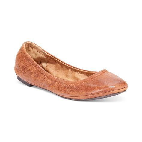 lucky brand shoes emmie flats lucky brand emmie flats in brown lyst