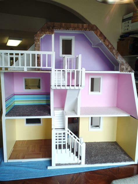 story custom  wood barbie doll house wooden dream