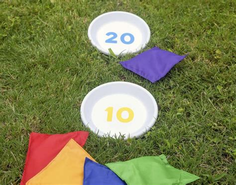 how to build a bean bag outdoor diy bean bag toss mod podge rocks