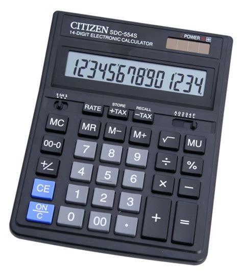 calculator citizen sdc 554s citizen calculator