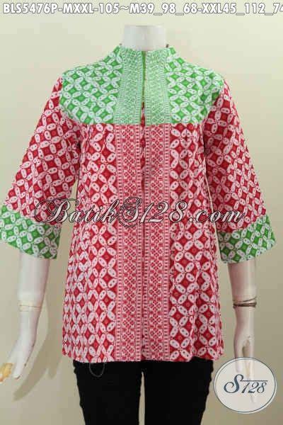 Vabia Top By Bls Supplier Baju blouse batik wanita ukuran jumbo blouse batik wanita ukuran jumbo batik blus dual warna