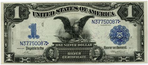 1 dollar black eagle 1899 1 united states silver certificate black eagle au unc